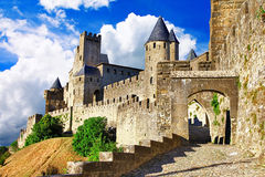 Carcassonne, la plupart des plus grands forteress Image stock