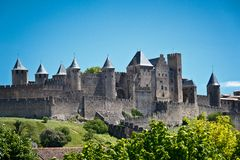 Carcassonne, Languedoc Roussillon, France. Medieval city of Carcassonne, Languedoc Roussillon, France Stock Images