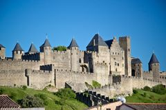 Carcassonne, Languedoc Roussillon, Frankrijk Royalty-vrije Stock Foto's