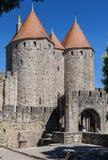 Carcassonne medeltida stad Frankrike Royaltyfria Bilder
