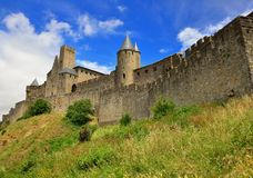 Carcassonne, medieval fortified city in southern France Royalty Free Stock Images
