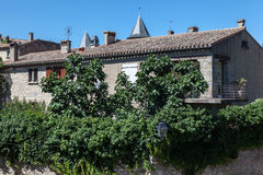 Carcassonne Medieval House France Stock Photos