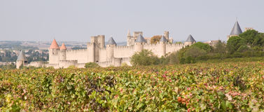 Carcassonne-mittelalterliche Stadt Stockfotos