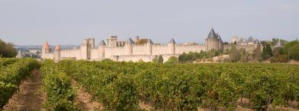 Carcassonne-mittelalterliche Stadt Stockfotografie