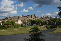 Carcassonne murou a cidade Imagem de Stock