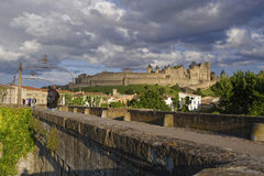 Carcassonne from the old bridge Royalty Free Stock Image