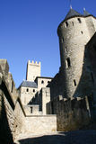 Carcassonne,the old city,Franc. View at the Carcassonne castle in a sunny day Royalty Free Stock Images