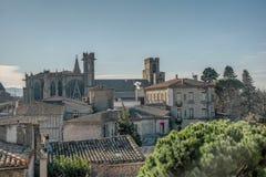 Carcassonne overziet stock afbeelding
