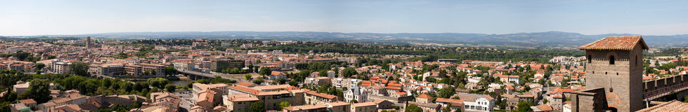 Carcassonne panoramic view Royalty Free Stock Images