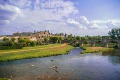 Carcassonne, Południowy Francja fotografia royalty free