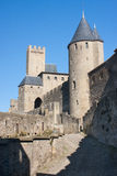 Carcassonne. Rampart of the medieval town of Carcassonne, France Royalty Free Stock Photography