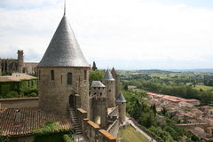 Carcassonne scenic France Stock Image