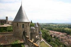carcassonne sceniska france fotografering för bildbyråer
