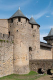 Carcassonne-Schloss-Eingang Stockfotografie