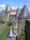 carcassonne slott cit de france Arkivfoto