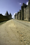 carcassonne slott france Royaltyfria Bilder