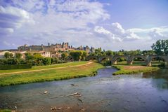 Carcassonne, South France. Image of a medieval town, Carcassonne, South France royalty free stock photography