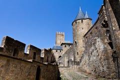 Carcassonne - störst fästning i Europa, Frankrike Royaltyfria Foton