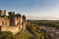 carcassonne stad france fotografering för bildbyråer