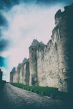 Carcassonne, the town fortress in France Stock Image