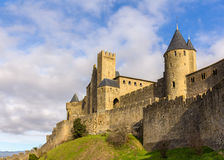 Carcassonne town walls - France, Languedoc-Roussillon Stock Images