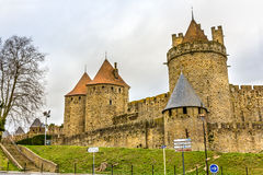 Carcassonne town walls - France Royalty Free Stock Photo