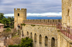 Carcassonne town walls - France Royalty Free Stock Images