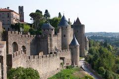 carcassonne väggar Royaltyfri Foto