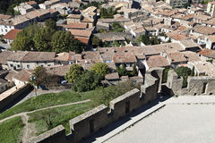 Carcassonne Village Stock Images