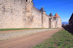 Carcassonne wall Royalty Free Stock Image