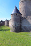 Carcassonne wall Royalty Free Stock Photography