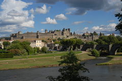 Carcassonne walled city Stock Image