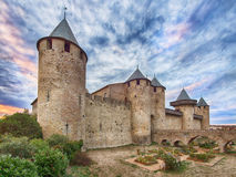 Carcassonne, walled medieval city, France Royalty Free Stock Photography