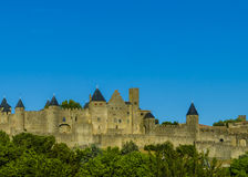 Carcassonne walls Royalty Free Stock Images