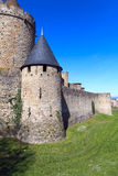 Carcassonne-Wand Stockbild
