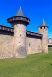 Carcassonne-Wand Stockfotografie