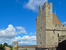 Carcassonne-Wand Stockfoto