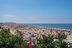 Carcavelos strand i Carcavelos, Portugal Arkivfoto