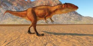 Carcharodontosaurus hacia fuera que caza libre illustration