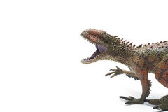 Carcharodontosaurus toy on a white background Royalty Free Stock Images