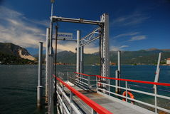 Carciano landing pier, Lake Maggiore Royalty Free Stock Image