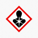 Warning sign Vector illustration. Carcinogen Warning sign. Hazard symbols Royalty Free Stock Photo