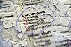 Carcinogens substances Stock Photo
