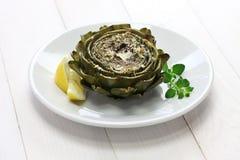 Carciofo al forno, carciofo arrostito Fotografie Stock