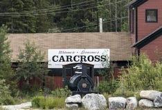 Carcross, territoire de Yukon Photographie stock libre de droits