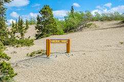 Carcrosswoestijn in yukon Canada Royalty-vrije Stock Afbeeldingen