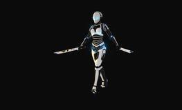 Carácter androide Foto de archivo