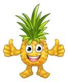 Carácter de la mascota de la piña de la historieta de la fruta Imagenes de archivo