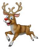 Carácter de la Navidad del reno de la historieta Imagen de archivo