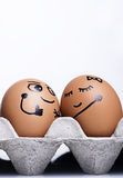 Carácter de los huevos Imagenes de archivo